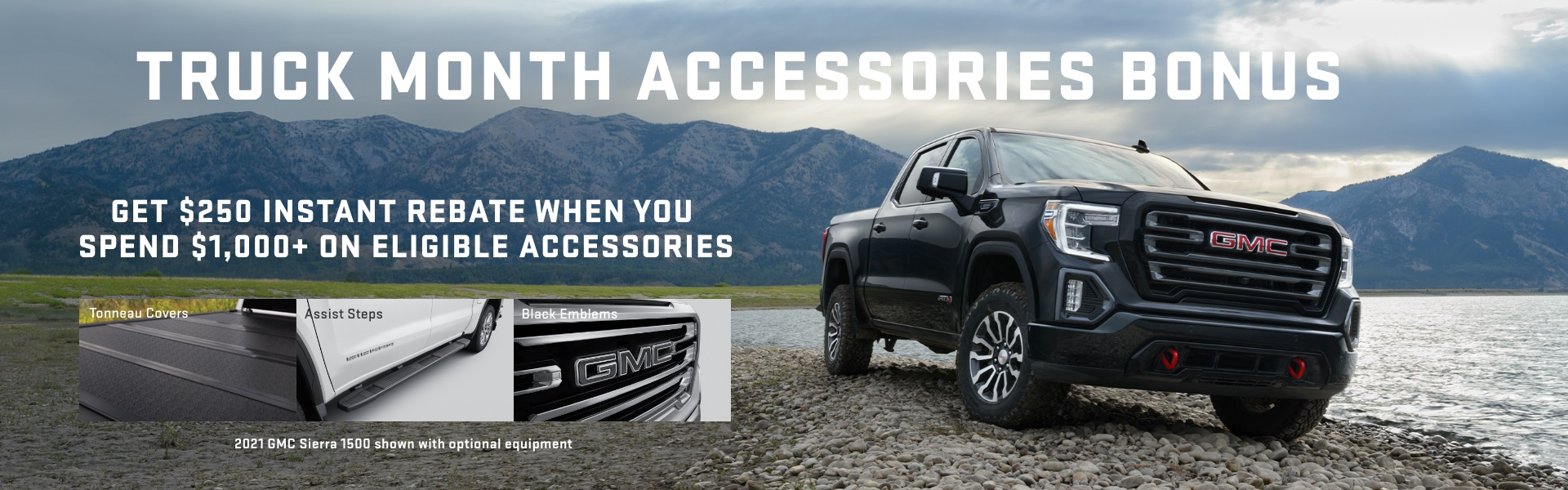 GMC Accessories Truck Month bonus - EN