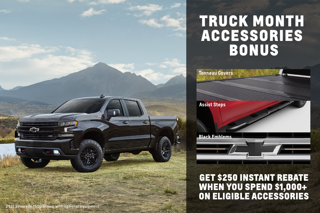 Chevy Accessories Truck Month bonus - EN